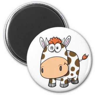 Ímã insano louco da vaca ímã redondo 5.08cm