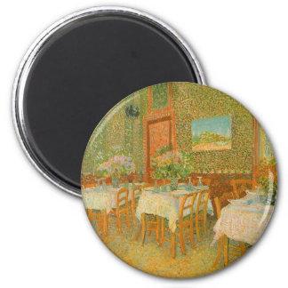 Imã Interior de um restaurante por Vincent van Gogh