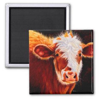 Imã Intimidação lanoso - ímã peludo da vaca da vitela