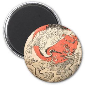 Imã Isoda Koryusai - guindaste, ondas e ascensão Sun