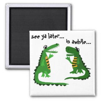 Imã Jacaré engraçado que fala ao crocodilo