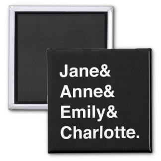 Imã Jane Austen e o ímã de Brontes