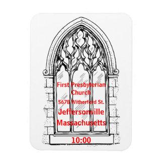 Ímã Janela da igreja com os detalhes da igreja -