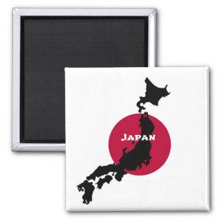 Imã Japão - silhueta e bandeira do mapa