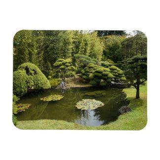 Ímã japonês da foto da lagoa do jardim de chá de