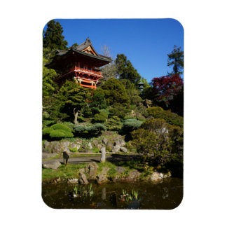 Ímã japonês da foto da porta do templo do jardim