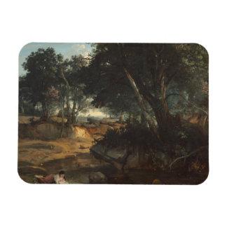 Ímã Jean-Baptiste-Camilo Corot - floresta de