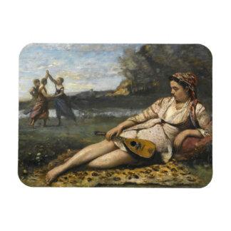 Ímã Jean-Baptiste-Camilo Corot - jovens mulheres de