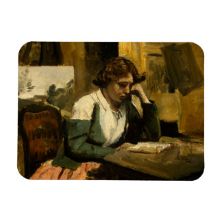 Ímã Jean-Baptiste-Camilo Corot - leitura da rapariga