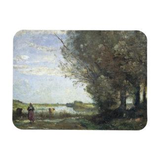 Ímã Jean-Baptiste-Camilo Corot - opinião do rio