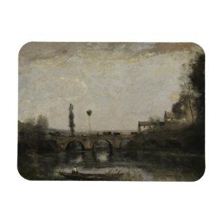 Ímã Jean-Baptiste-Camilo Corot - paisagem com ponte