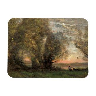 Ímã Jean-Baptiste-Camilo Corot - pescador