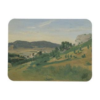 Ímã Jean-Baptiste-Camilo Corot - vista de Olevano