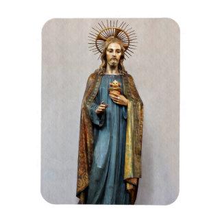 Ímã Jesus que guardara o coração sagrado dourado