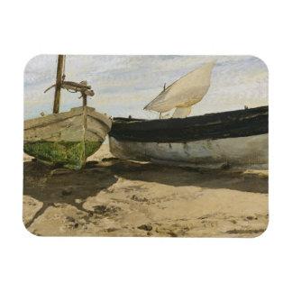 Ímã Joaquin Sorolla - barcos de pesca na praia