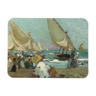 Ímã Joaquin Sorolla - barcos na praia de Valência