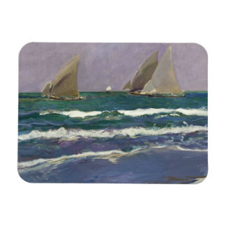 Ímã Joaquin Sorolla - velas do navio no mar