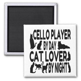 Imã Jogador do violoncelo do amante do gato