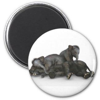 Imã jogo pequeno bonito dos elefantes do bebê