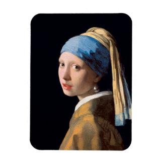 Ímã JOHANNES VERMEER - Menina com um brinco 1665 da