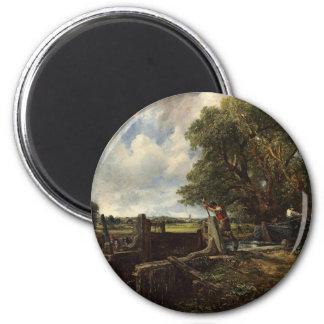 Imã John Constable - o fechamento - paisagem do campo