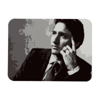 Ímã Justin Trudeau preto e branco