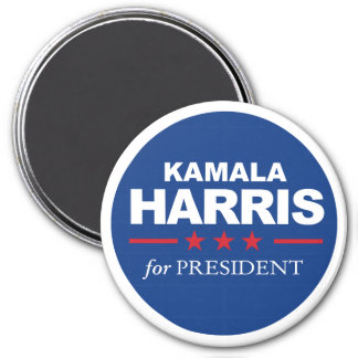Imã Kamala Harris para o presidente - azul da etiqueta