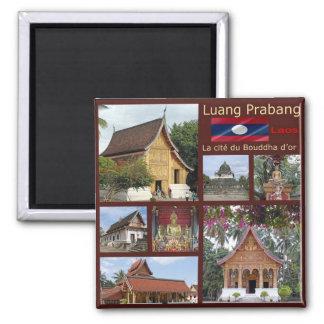Imã LA - Laos - Luang Prabang - mosaico - colagem