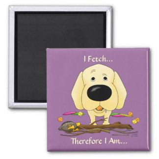 Imã Labrador amarelo (laboratórios) - eu busco… o ímã