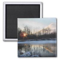 Lagoa do nascer do sol do norte do estado em New Y