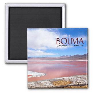 Imã Laguna Colorada no ímã do texto de Bolívia