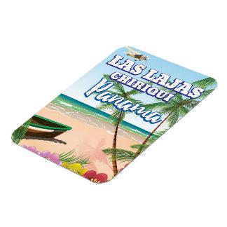Ímã Las Lajas, poster de viagens da praia de Chiriquí