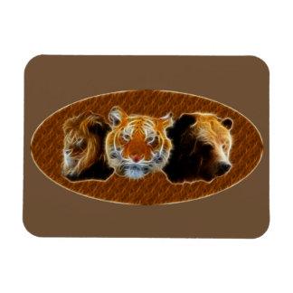 Ímã Leão e tigre e urso