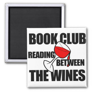 Imã Leitura do CLUBE DE LEITURA entre os vinhos