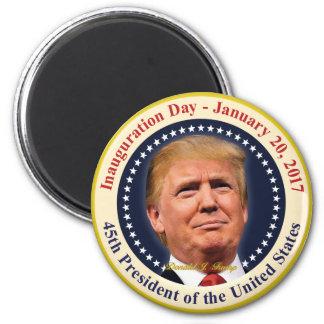 Imã Lembrança do dia de inauguração do presidente