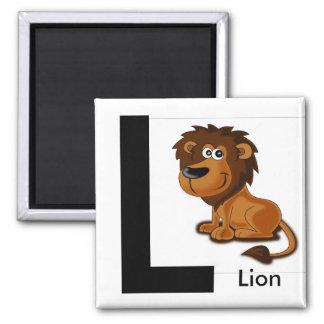 """Imã """"Letra L"""" para o ímã das crianças do leão"""