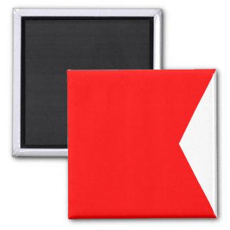 Imã Letra náutica B do sinal da bandeira (bravo)