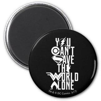 Imã Liga de justiça | você não pode salvar o mundo