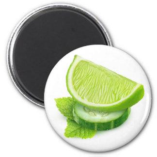 Imã Limão, pepino e hortelã