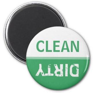 Imã Limpe a máquina de lavar louça suja do verde