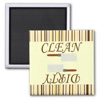 Ímã limpo ou sujo da máquina de lavar louça da ímã quadrado