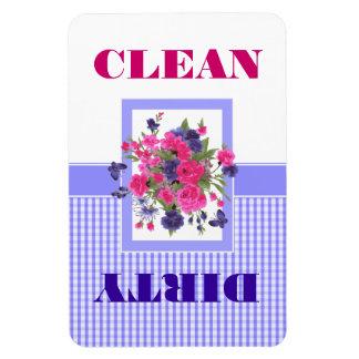 Ímã limpo ou sujo do design da flor da máquina de foto com ímã retangular