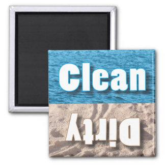 Ímã limpo ou sujo ímã quadrado