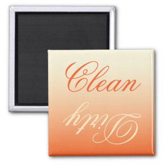 Ímã limpo/sujo da máquina de lavar louça de creme ímã quadrado