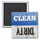 Ímã limpo & sujo da máquina de lavar louça imã