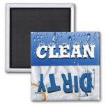 Ímã limpo & sujo da máquina de lavar louça imas