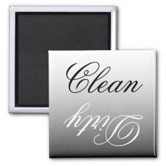 Ímã limpo/sujo da máquina de lavar louça preta & ímã quadrado