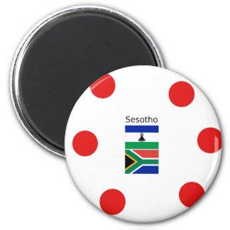 Imã Língua de Sesotho e bandeiras de Lesotho/África do