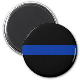 Imã linha azul fina lei da polícia