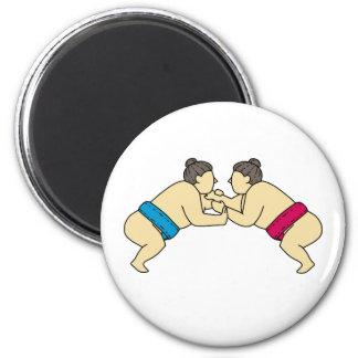 Imã Linha do lado da luta dos lutadores do Sumo de